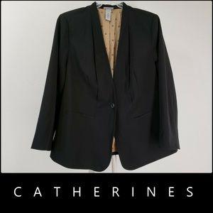 Catherines Woman W/  Line Blazer Suit Size 1X Nwt